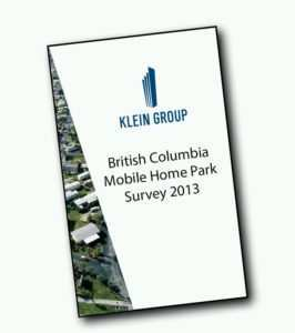 front page of the mobile home park industry survey